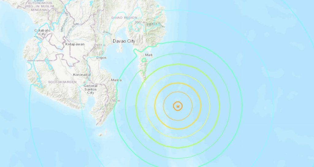 Levantada la alerta de tsunami por el seísmo de Mindanao