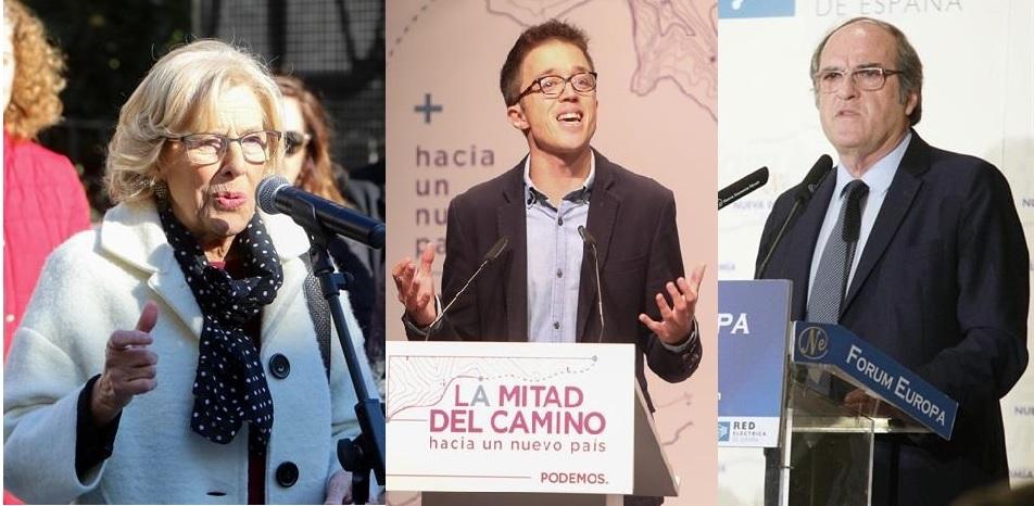 Carmena, Gabilondo y Errejón, únicos que terminan el año sabiendo que serán candidatos en las elecciones de Madrid