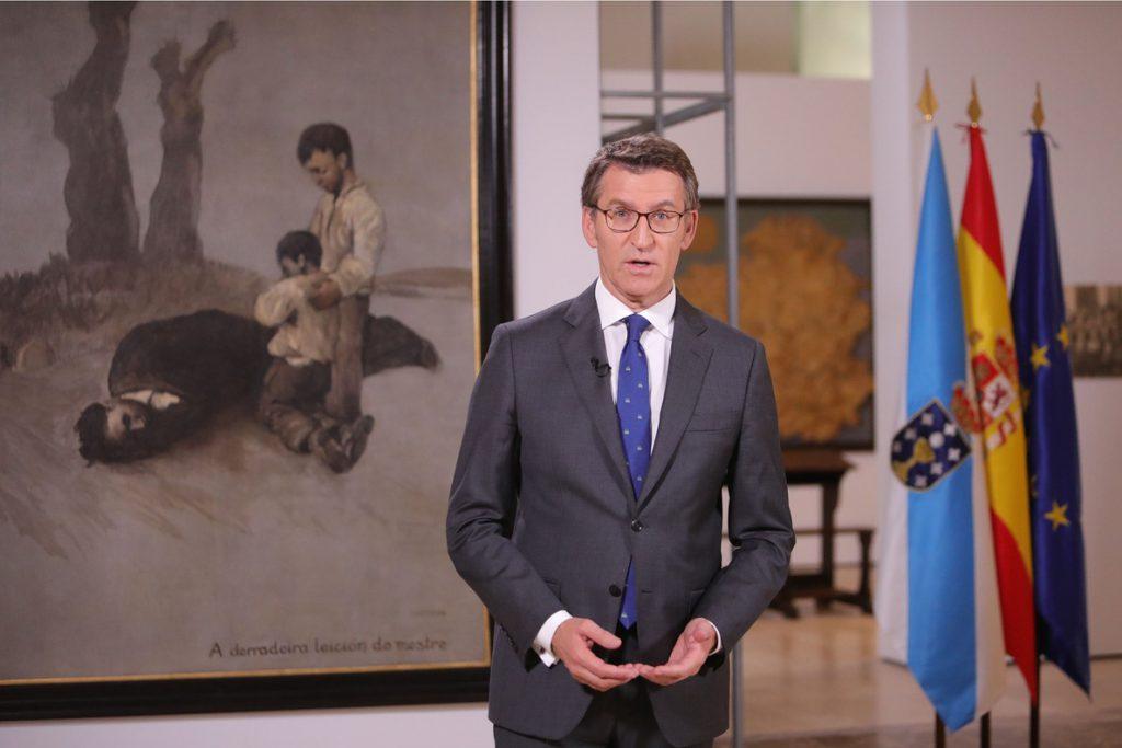 Feijóo carga contra el desafío independentista y asegura que Galicia «no va a callar» ante ataques a la Constitución