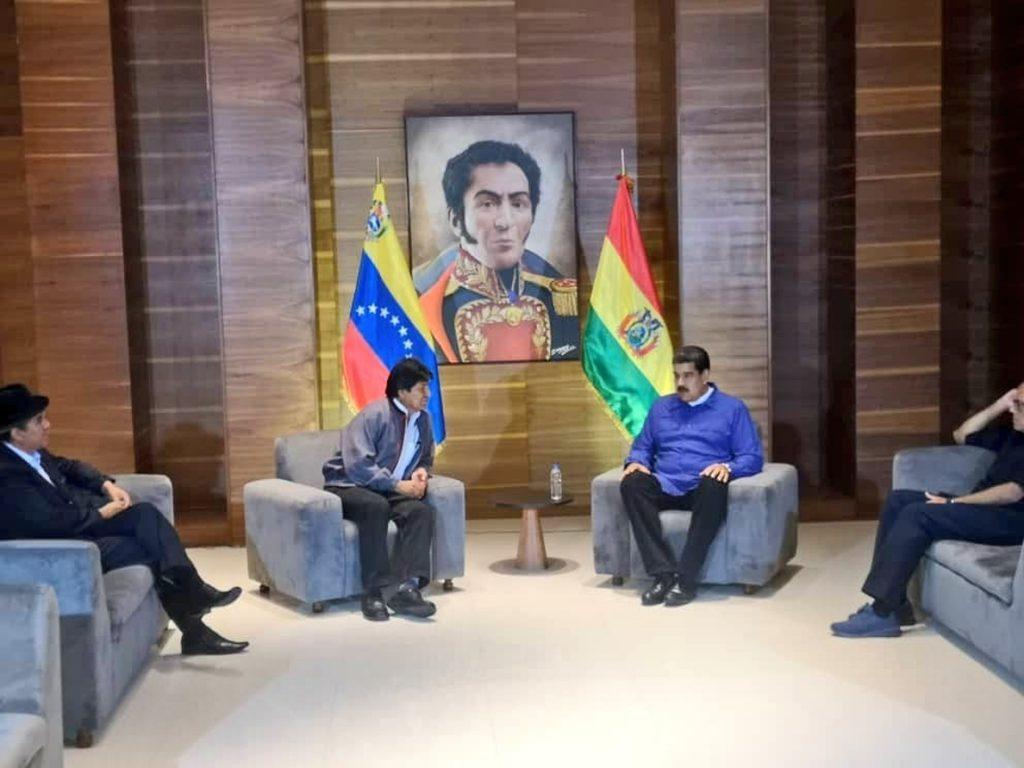 Evo Morales visita por sorpresa Venezuela para apoyar a Maduro