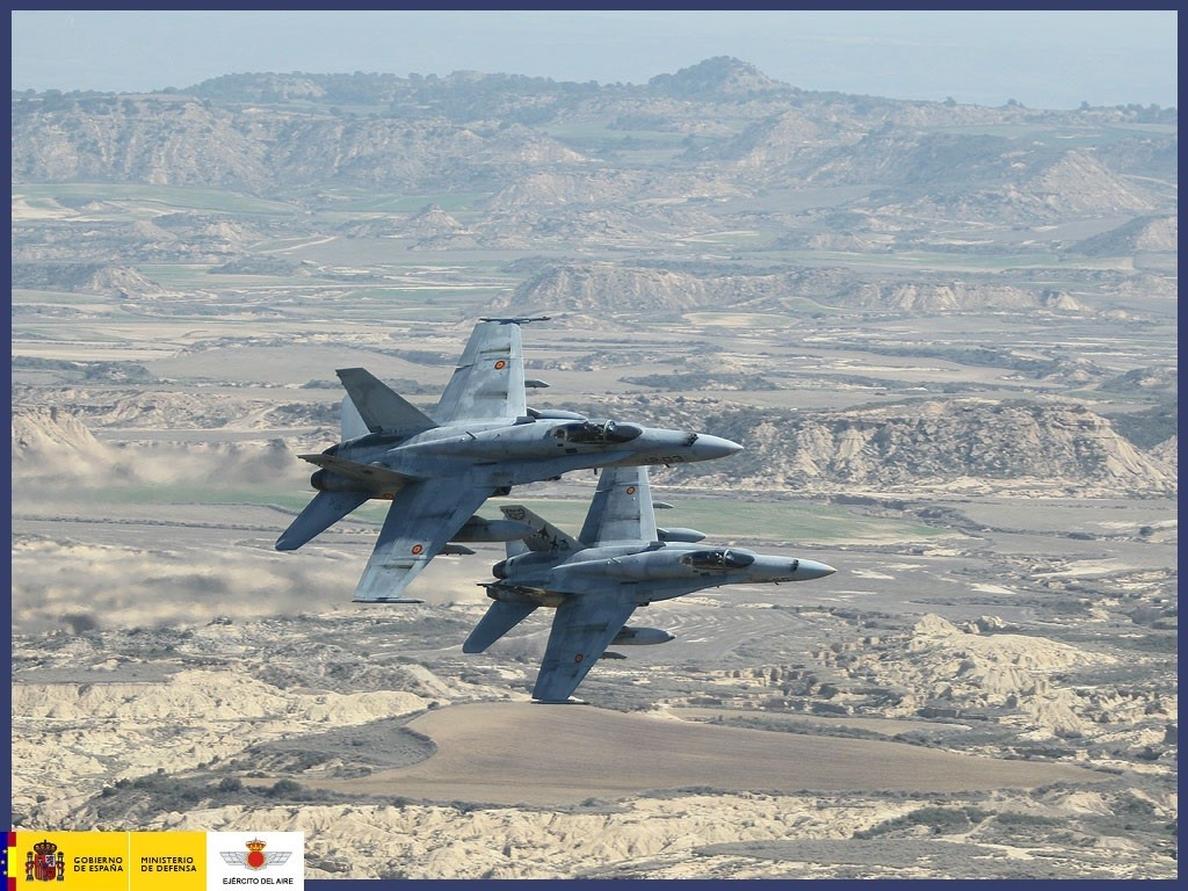 Cinco cazas F-18 del Ejército del Aire volarán en mayo al Báltico para vigilar su espacio aéreo desde Lituania