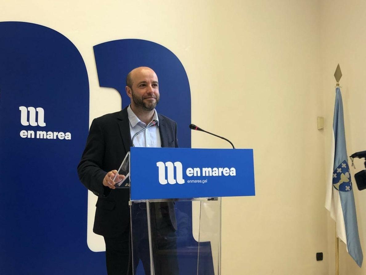 El portavoz de En Marea dice que el partido está «más cohesionado que nunca» tras la salida de EU, Podemos y Anova