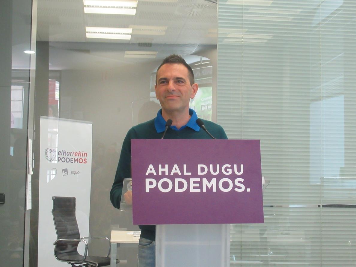 Podemos Euskadi insta a reflexionar en el Consejo Ciudadano tras la petición de Espinar de un »Vistalegre III»