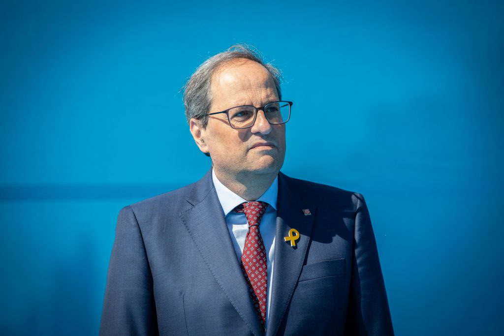 5.500 euros de multa para Torra por sus mensajes en favor de los políticos presos en campaña