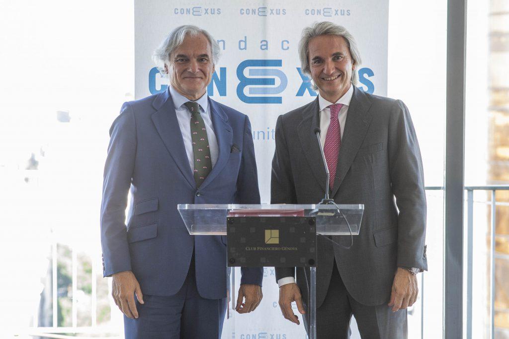 Los empresarios de la Fundación Conexus y Miguel Garrido, presidente de CEIM, analizan la economía nacional