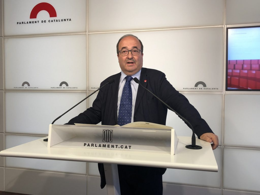Iceta avalaría la petición de ERC de crear «una mesa de negociación entre gobiernos»