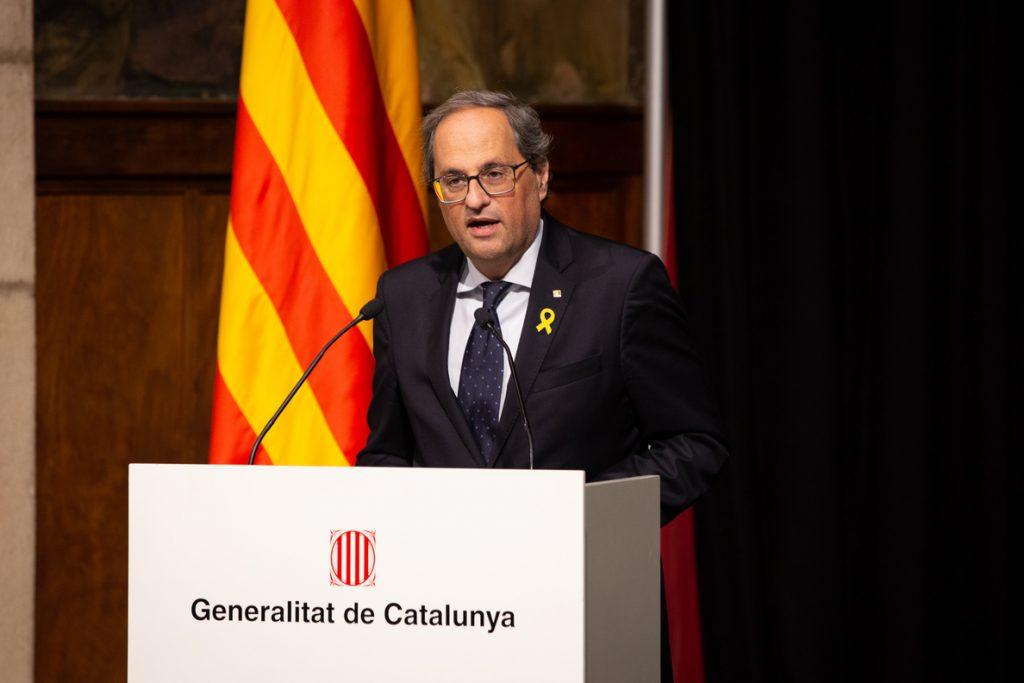 Torra prevé elecciones en Cataluña si le inhabilitan tras una sentencia firme