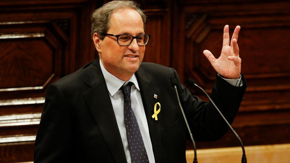 El secretario general del Parlament ordena retirar el acta de diputado a Torra