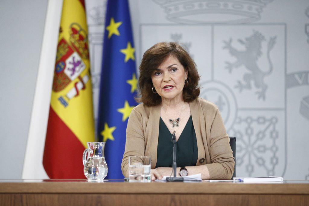 Calvo admite que hay que «perfeccionar» la ley contra la violencia sexual de Montero antes del 8M