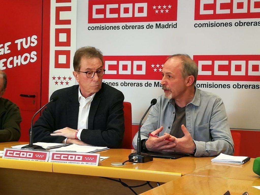 CCOO reclama al Gobierno madrileño un esfuerzo para impulsar la reactivación y la reconstrucción de la región