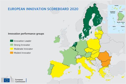 España, uno de los tres países que más avanza en innovación en 2019