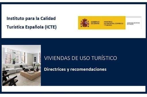 Turismo publica una guía de recomendaciones frente al COVID-19 para Viviendas de Uso Turístico