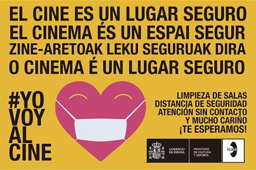»El cine es un lugar seguro» el ICAA se suma a la campaña #YoVoyAlCine