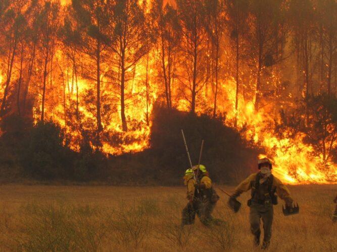 Despliegan un amplio dispositivo para apoyar la extinción de los incendios en Ribas de Sil, que ya alcanzan las 1000 hectáreas