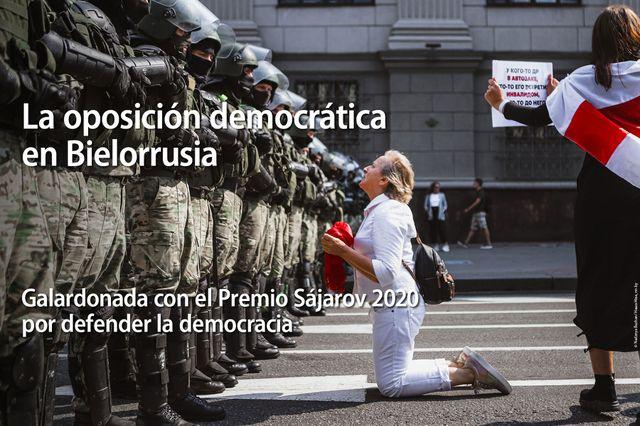 La oposición democrática de Bielorrusia, Premio Sájarov a la Libertad de Conciencia: «Por su valentía y resistencia»