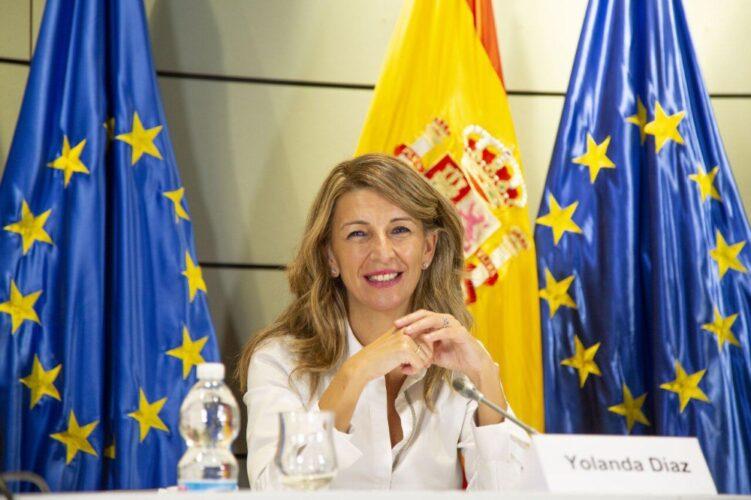 Yolanda Díaz sobre las reformas del Plan de Recuperación en el mercado laboral: «Estamos haciendo lo que nunca se ha hecho»