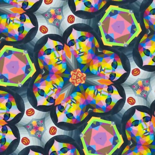 La primera incursión de Okuda San Miguel en el arte digital incluye cinco piezas originales y es totalmente neutra en carbono