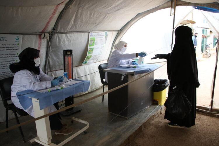 El sistema sanitario colapsado por la COVID-19 en el norte de Siria